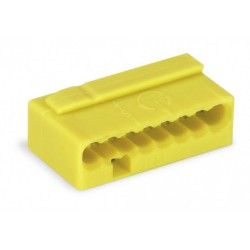 Клемма МИКРО. 8-проводная 0.6 - 0.8мм2 желтые (уп/50шт) | 243-508 | WAGO
