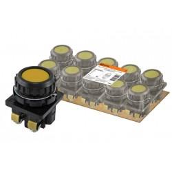 Выключатель кнопочный КЕ 011-У2-исп.5 желтый 1р 10A 660B IP40 | SQ0753-0013 | TDM